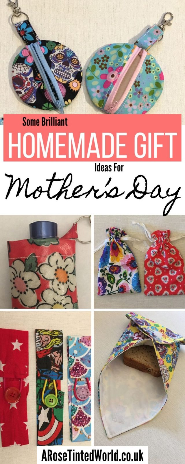Homemade Gifts for Mother's Day - here are some great ideas of handmade presents to gift your Mum this year. Find tutorials for some great DIY presents! #mothersday #mothersdaycrafts #mothersdaydiy #handmadegifts #handmade #homemadegift #homemadegifts #homemade #giftideas #diygifts #sewing #sewinggifts