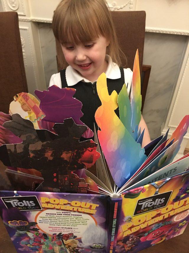 Enjoying her finished display