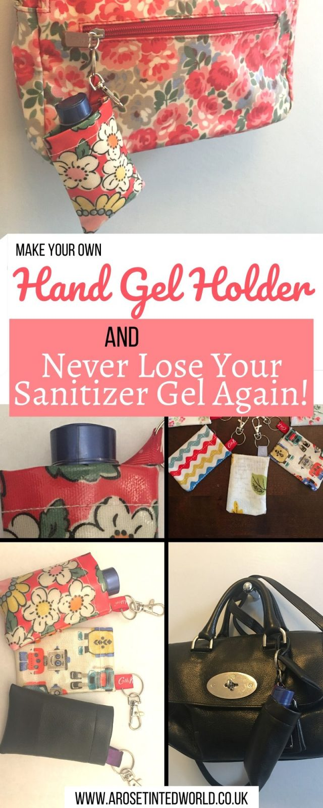 Make A Hand Sanitiser Gel Holder - this hand hygiene gel case can made in minutes and clips to your bag. Never lose your sanitizer again! Full DIY tutorial Great gift for friends, family and teachers. #handgelholder #handhygiene #sanitizer #sanitizergel #cleanhands