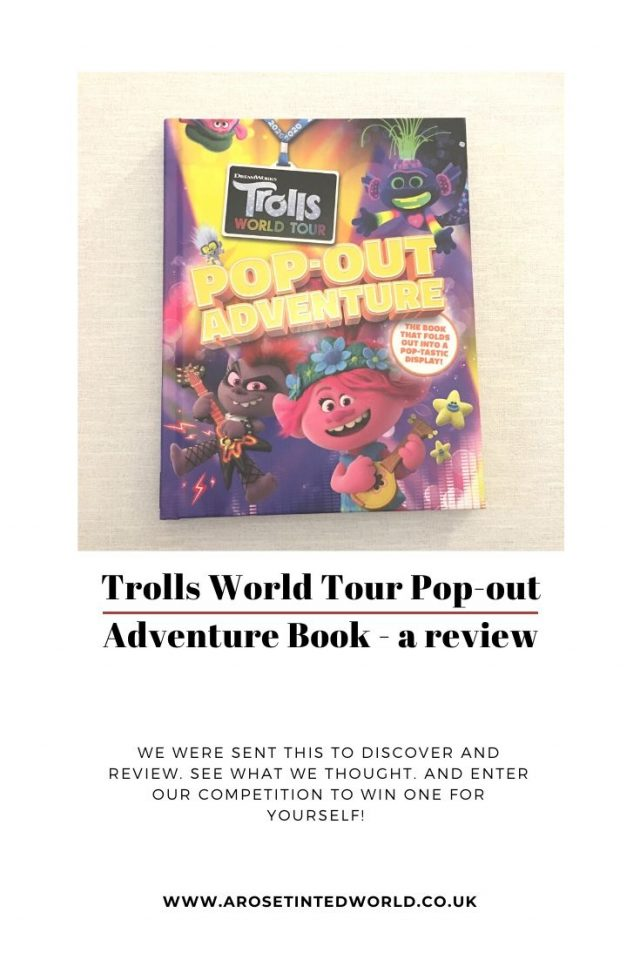 Trolls World Tour Pop-Out Adventure Book - a 2nd Trolls film is coming soon. This book is a great introduction to the new characters. See our review . #bookreview #trolls #popoutbook #childrensbook #trollsworldtour #booksforkids #kidsbooks