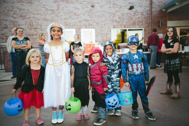 Children in costumes