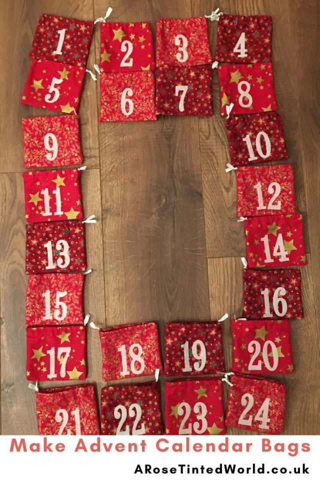 Advent Calendar Bags -Sewing Projects That You Can Sell - make money from what you sew with these ideas for brilliant & sellable DIY items. Links to Full step by step tutorials for each. #sewing #sewingtosell #sewingprojects #sellinghandmade #craftfairs #craftfairideas #sewingcrafts