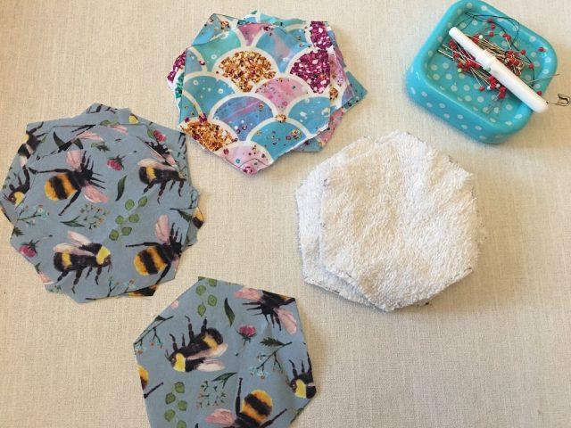 Hexagons of fabric