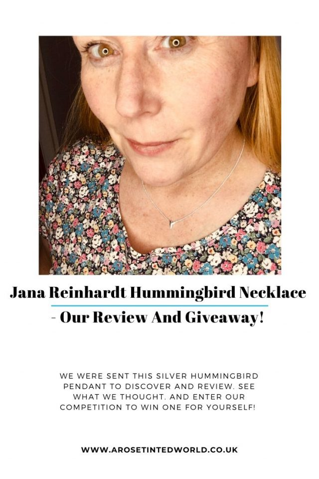 Jana Reinhardt Hummingbird Necklace - we were sent this pendant to review. See what we thought and enter our competition to win one for yourself! #win #competition #silvernecklace #hummingbird #sustainablejewellery