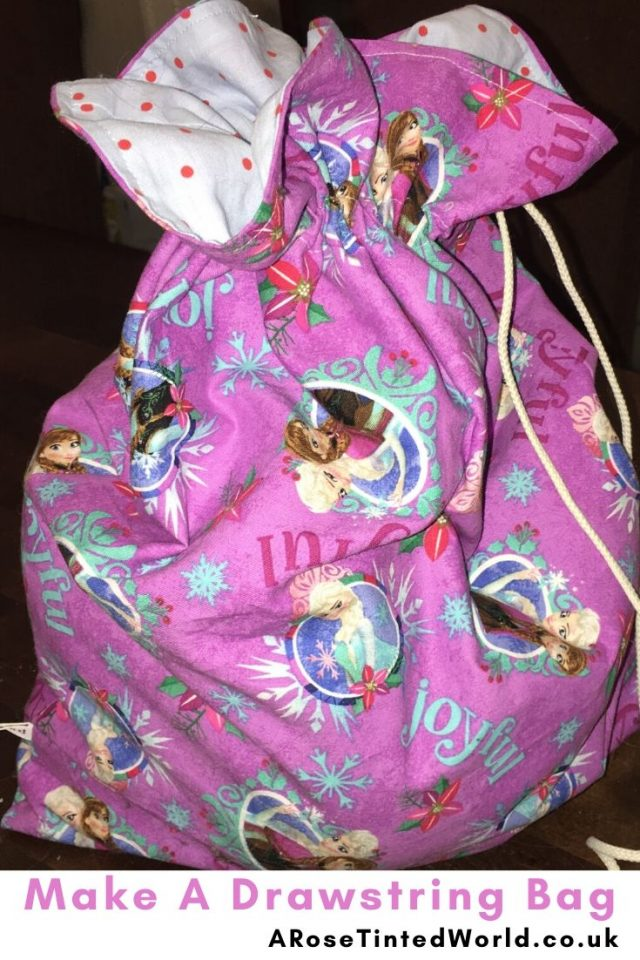 Lined Drawstring Bags -Sewing Projects That You Can Sell - make money from what you sew with these ideas for brilliant & sellable DIY items. Links to Full step by step tutorials for each. #sewing #sewingtosell #sewingprojects #sellinghandmade #craftfairs #craftfairideas #sewingcrafts