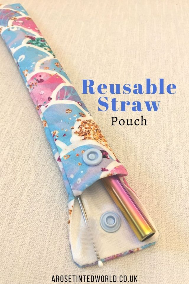 Reusable Straw Pouch -Sewing Projects That You Can Sell - make money from what you sew with these ideas for brilliant & sellable DIY items. Links to Full step by step tutorials for each. #sewing #sewingtosell #sewingprojects #sellinghandmade #craftfairs #craftfairideas #sewingcrafts