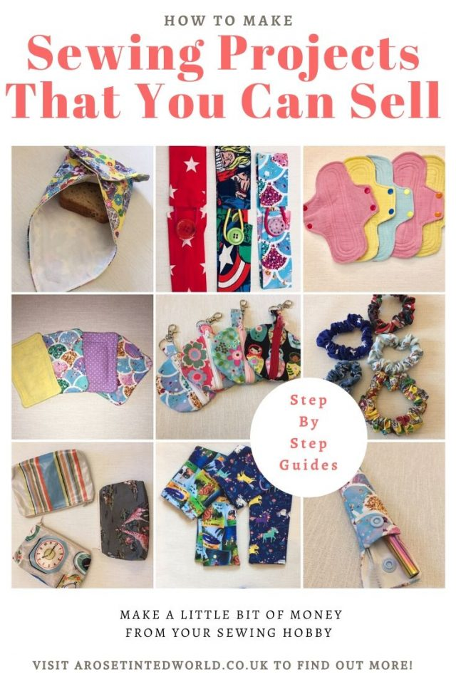 Sewing Projects That You Can Sell - make money from what you sew with these ideas for brilliant & sellable DIY items. Links to Full step by step tutorials for each. #sewing #sewingtosell #sewingprojects #sellinghandmade #craftfairs #craftfairideas #sewingcrafts