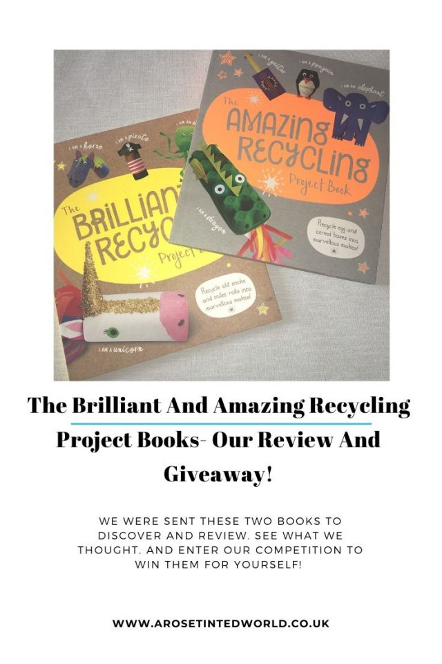 The Brilliant And Amazing Recycling Project Books - Do you like junk modelling? Love recycling and up cycling? Then these books are for you. See our review of these books that help make fabulous makes from rubbish. #bookreview #junkmodelling #upcycling #repurpose