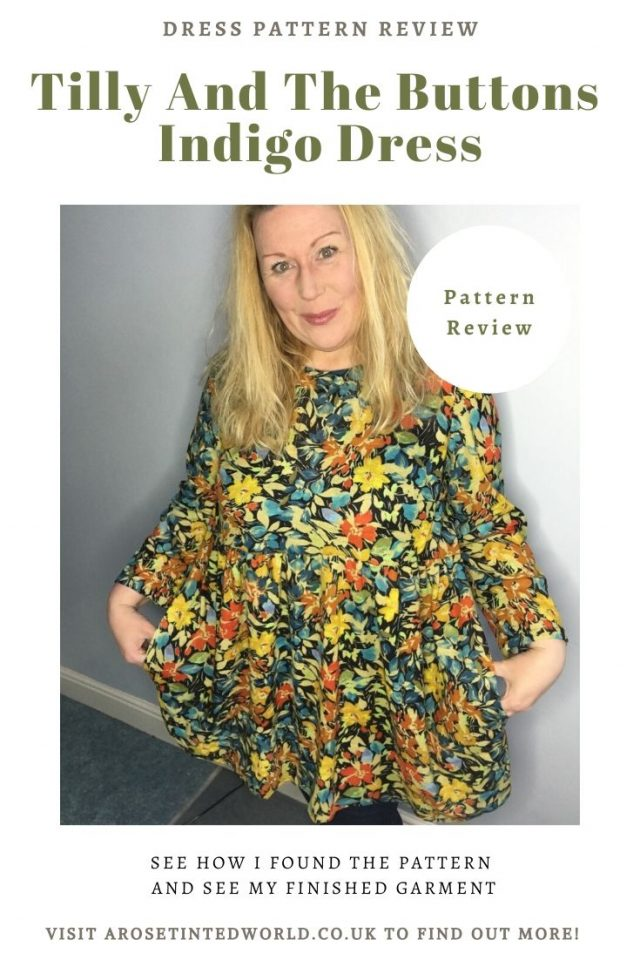 The Tilly And The Buttons Indigo dress sewing pattern - How I found sewing this dress pattern and my thoughts. Make your own using this pattern and the fabric of your choice. #sewing #dresspattern #tillyandthebuttonsindigo #tatbindigo #sewingtutorials #sewingprojects #diy #sewingclothes
