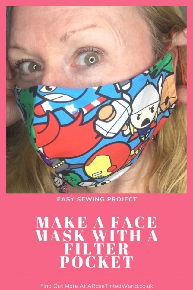 How To Sew A Face Mask (With A Filter Pocket) & wire nose fitting - these cloth face coverings shield your nose & mouth. Adult and child sizes. Full DIY step by step sewing tutorial how to make them. Free sewing DIY pattern #sewing #easysewingprojects #facemaskpattern #facemaskdiy #clothmask #clothfacemask #sewingtutorial #easysewingproject #socialdistancing #isolation