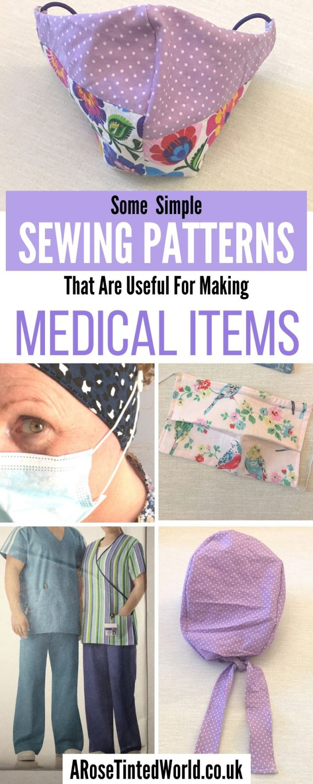 Sewing Projects For Medical Purposes - Suggestions of some medical item patterns that you could sew to help health workers. Face masks, scrubs & hat ideas. #sewing #easysewingprojects #facemaskdiy #clothmask #clothfacemask #surgicalscrubpattern #scrubhatpattern #surgicalscrubs #medicalsewing #medicalsewingpatterns