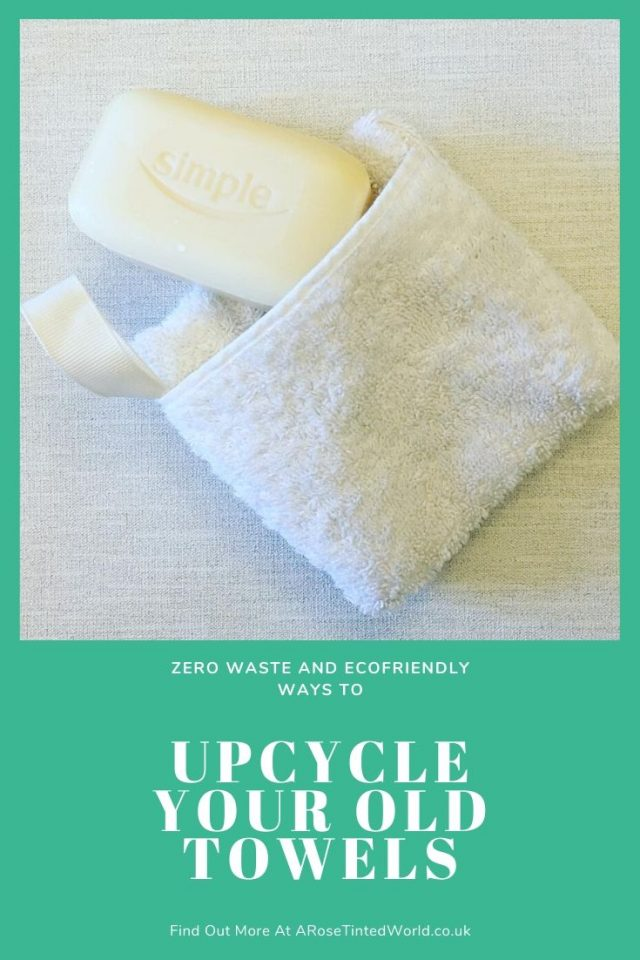 Wash Cloth Soap Holder -Ways To Upcycle Old Towels - looking for zero waste, sustainable ideas of how to reuse your old towel? Find here some great ways of recycling this versatile fabric and making some brilliantly useful items. #sewing #zerowaste #sustainable #upcycle #recycle #zerowasteliving #zerowastesewing #upcycledtowels
