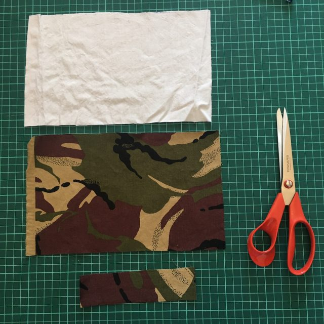 Cut out cloth pieces