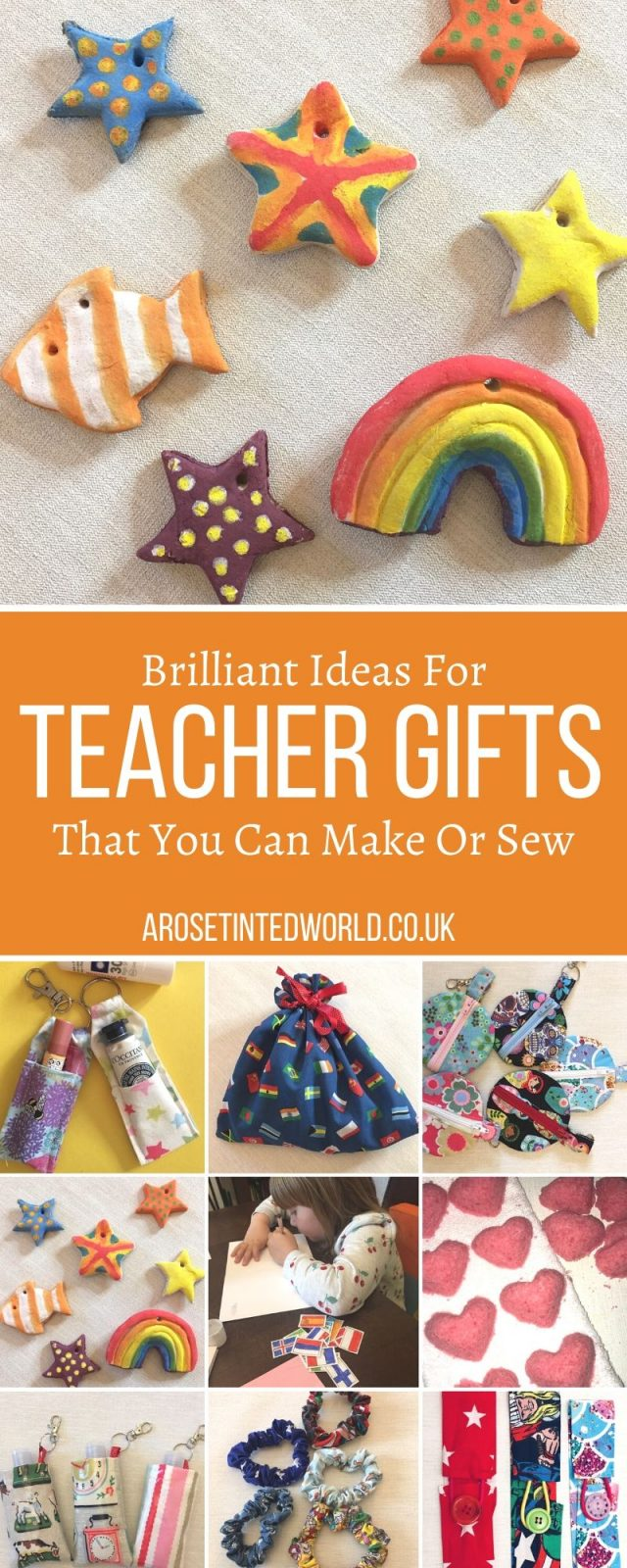 Teacher Gifts That You Can Make Or Sew - some great ideas for hand made thank you gifts to create for a teacher. Money saving presents that you can make at home. Show some love to the special teacher in your life with this gift guide full of brilliant ideas that they will go crazy for. Perfect for Christmas, Teacher Appreciation Week, end of year and end of term.
