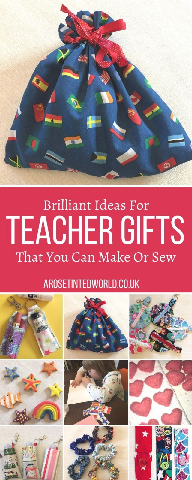 DIY Teacher Gifts - Homemade Teacher Appreciation Gift Ideas perfect for last minute presents for teachers. Money Saving Way To Say Thank You. Hand made Gifts That You Can Make Or Sew - some great ideas for money saving presents that you can make at home. Show some love to the special teacher in your life with this gift guide full of brilliant personalized ideas that they will go crazy for. Perfect for Teacher Appreciation Day, Teacher Appreciation week, Christmas, end of year and end of term.