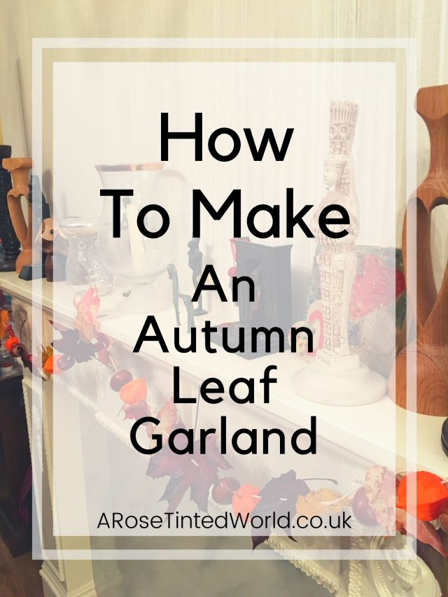 How To Make An Autumn Leaf Garland - zero waste fall decor - use all natural materials to create practically free home decorations. A compostable & zero waste fall decoration. Collect leaves conkers and autumn flowers to hang from twine or string to create a stunning fall decorative swag for your house mantlepiece or hallway. Full DIY tutorial. Easy project that even small children and toddlers can get involved with. #falldecor #fallhomedecor #leafcrafts #autumndecor #autumncrafts #autumnhome