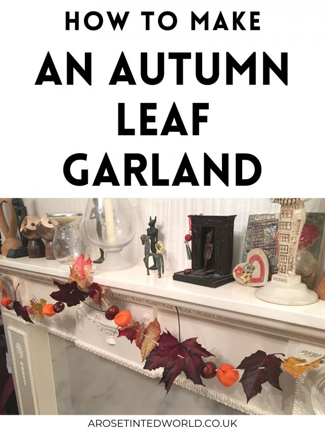 How To Make An Autumn Leaf Garland - use all natural materials to create practically free decor. A compostable & zero waste fall decoration. Collect leaves conkers and autumn flowers to hang from twine or string to create a stunning fall decorative swag for your mantlepiece or hallway.Full DIY tutorial. Easy project that even small children and toddlers can get involved with.