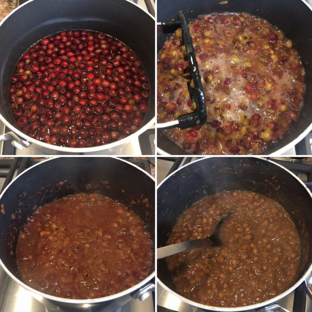 Cooking the berries