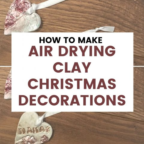 Air-drying Clay Christmas Decorations