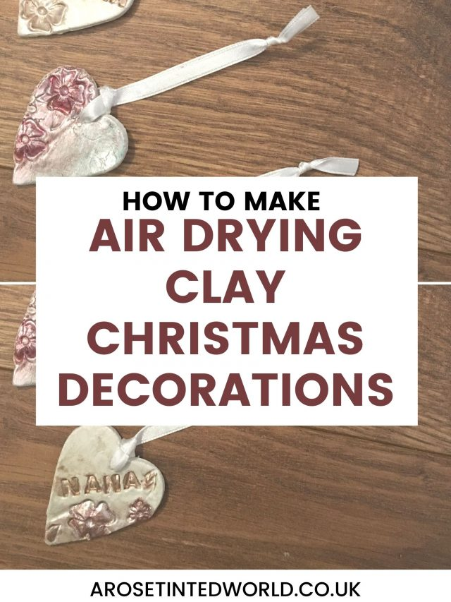 Air-drying Clay Christmas Decorations are an easy and mess free way to make pretty decorations with children. This tutorial shows you how. Create lovely Xmas decor with your child or toddler with this simple dough formula. Perfect to give as gifts or to decorate your Christmas tree and home. Holiday craft ideas for children. Simple crafts for kids, even toddlers can make them. Christmas decor idea, and they make brilliant gift tags on Christmas presents.
