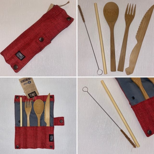 Bamboo Cutlery Set and pouch