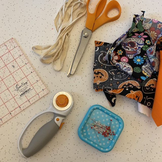 Materials needed for bunting