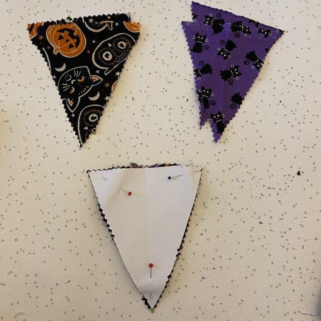 Cut out scrap triangles