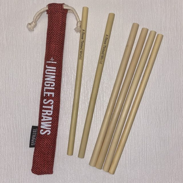 Bamboo Straws And Pouch