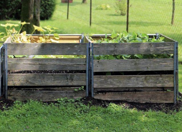 Wooden palate compost bin