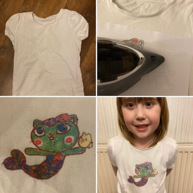 Ironing and transferring the design onto the T-shirt