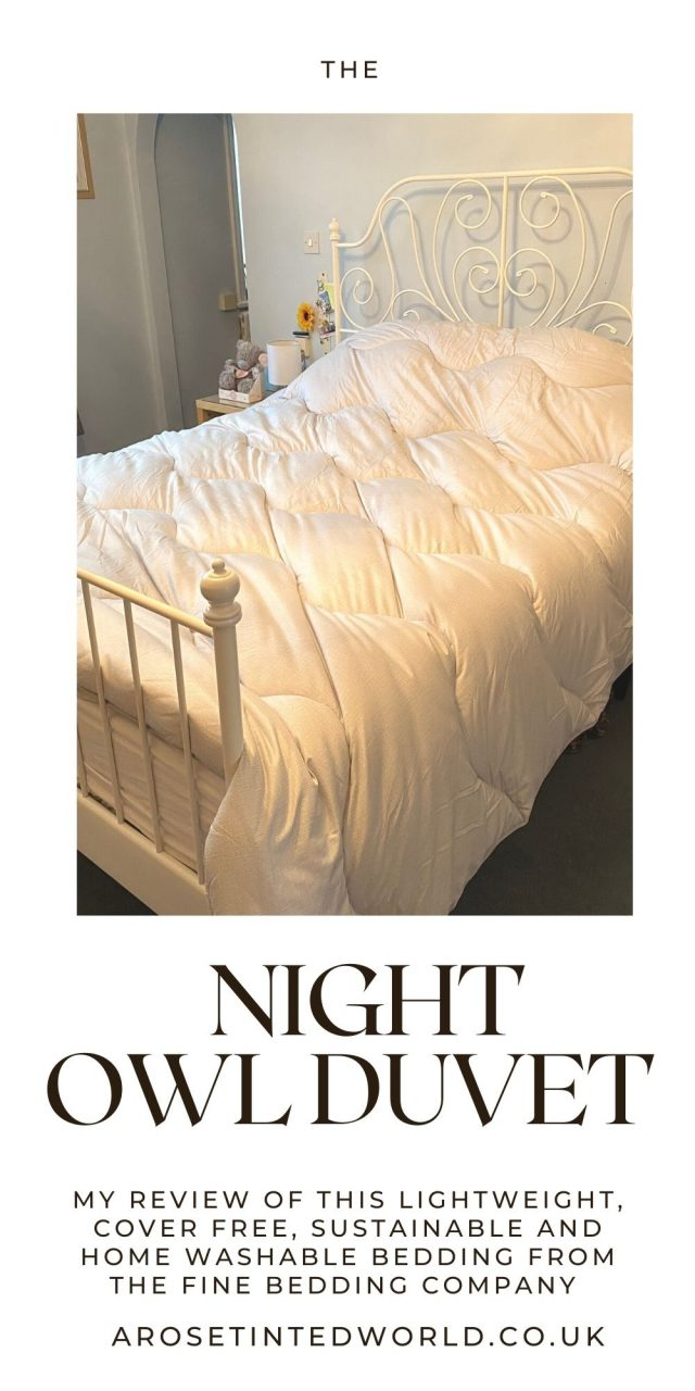 The Night Owl Duvet from The Fine Bedding Company - a lightweight, super soft, cover free duvet that can be washed at home & is made from sustainable materials. Here is our review.