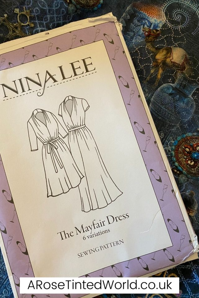 The Nina Lee Mayfair dress pattern and fabric chosen - gifted by Minerva