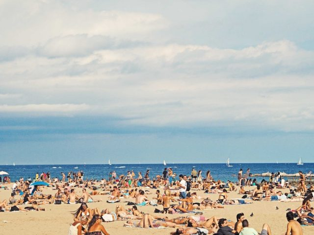 The Beach At Barcelona