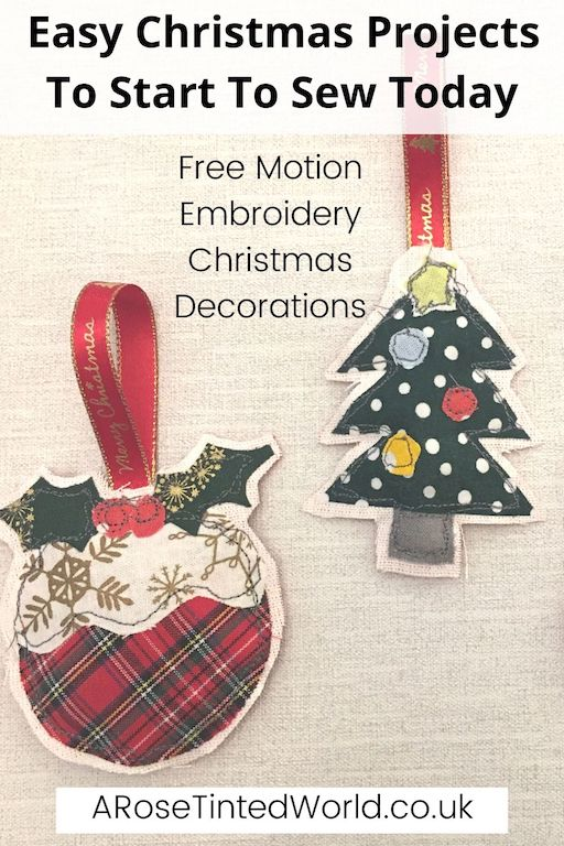 Free Motion Christmas Decorations -Easy Christmas Sewing Projects to start making today. Prepare for Xmas, start to sew these simple useful decoration, present and gift ideas. Zero waste and scrapbusting things to make for the festive season. Decorate your home, make beautiful gifts and decor using these 12 brilliant free patterns and tutorials. Create the perfect handmade Christmas!