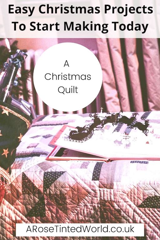 Christmas Quilt -Easy Christmas Sewing Projects to start making today. Prepare for Xmas, start to sew these simple useful decoration, present and gift ideas. Zero waste and scrapbusting things to make for the festive season. Decorate your home, make beautiful gifts and decor using these 12 brilliant free patterns and tutorials. Create the perfect handmade Christmas!