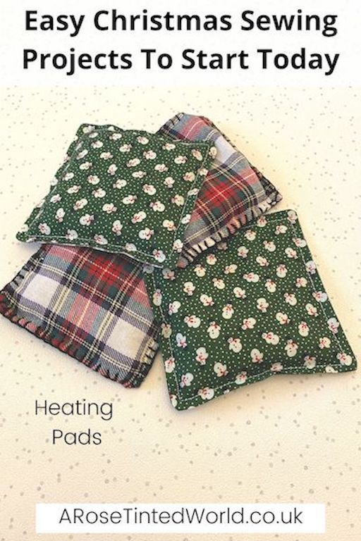 Hand Warming Pouches / Heat Packs -Easy Christmas Sewing Projects to start making today. Prepare for Xmas, start to sew these simple useful decoration, present and gift ideas. Zero waste and scrapbusting things to make for the festive season. Decorate your home, make beautiful gifts and decor using these 12 brilliant free patterns and tutorials. Create the perfect handmade Christmas!