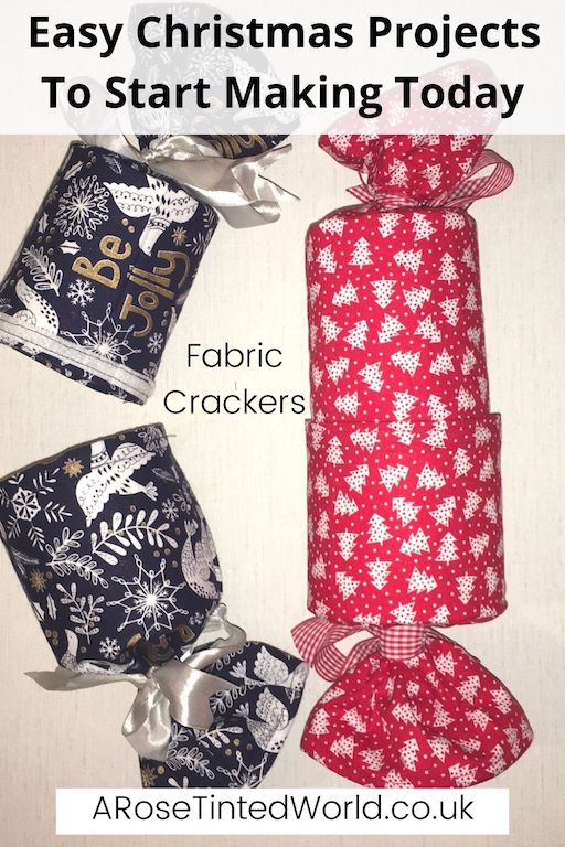 Reusable Fabric Christmas Crackers -Easy Christmas Sewing Projects to start making today. Prepare for Xmas, start to sew these simple useful decoration, present and gift ideas. Zero waste and scrapbusting things to make for the festive season. Decorate your home, make beautiful gifts and decor using these 12 brilliant free patterns and tutorials. Create the perfect handmade Christmas!