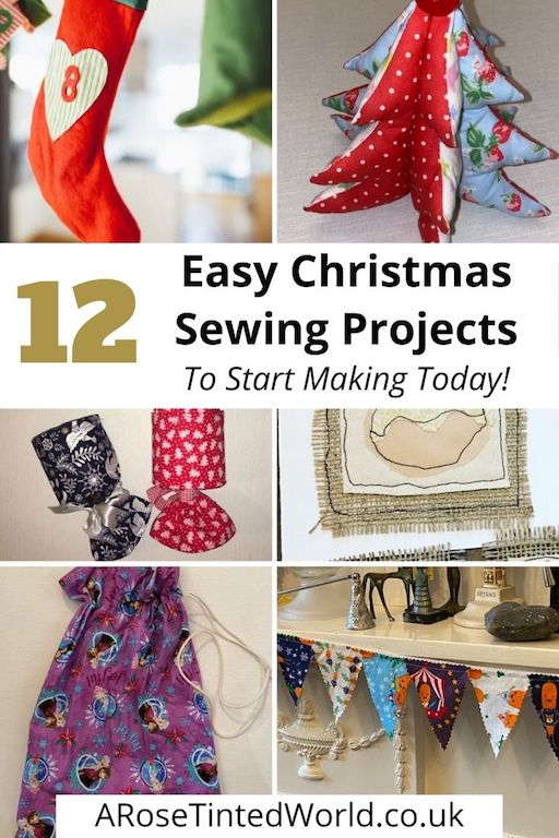 Easy Christmas Sewing Projects to start making today. Prepare for Xmas, start to sew these simple useful decoration, present and gift ideas. Zero waste and scrapbusting things to make for the festive season. Decorate your home, make beautiful gifts and decor using these 12 brilliant free patterns and tutorials. Create the perfect handmade Christmas!