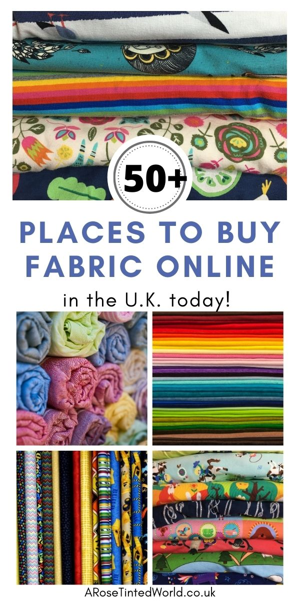 Where To Buy Fabric Online In The UK - here is an ultimate guide of over 50 online fabric retailers - Whether you are looking for dressmaking fabrics, haberdashery, sewing notions, sewing patterns, upholstery, jersey, eco friendly, organic cotton, ethically sourced or deadstock fabric, here is a massive guide to internet cloth sellers in the United Kingdom. Use this list to find the perfect cloth for your next sewing or craft project.
