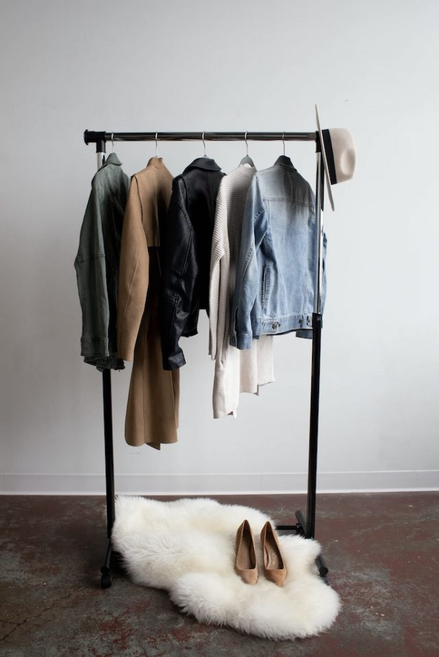 Picture of Clothes on a rack
