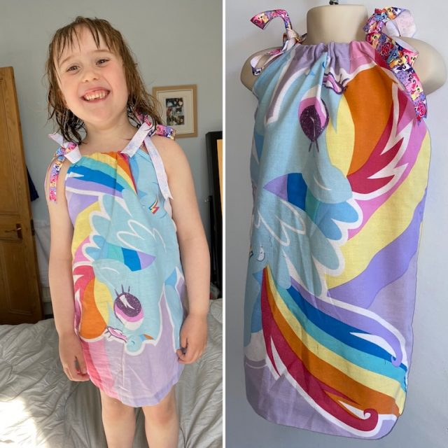The finished pillowcase dress