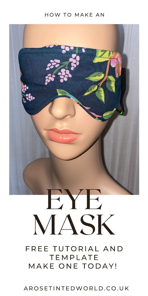 How To Make An Eye Mask - Here is an Easy Sewing Tutorial with free a pattern / template. Sew yourself a cute handy sleep mask for relaxing or self care. Great gift idea for friends and family for Christmas or birthdays. And also the perfect items to sell at craft fairs or Etsy. Scrapbusting pattern - use up all your old fabric scraps to make something beautiful and useful. Adjustable elastic toggle and full instructions that are suitable for novice / beginner sewists.