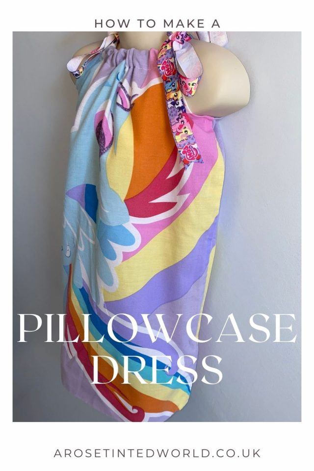 How To Make A Pillowcase Dress - upcycle an old pillow case into a little summer dress or top. Hardly any experience is needed to make this pretty dress or top. Zero waste way of repurposing old bedding. Sustainable idea for making summer clothes using fabric that may have been destined for landfill. Very easy sewing tutorial for beginners. Simple sew for novice sewists. Make one today in super quick time!
