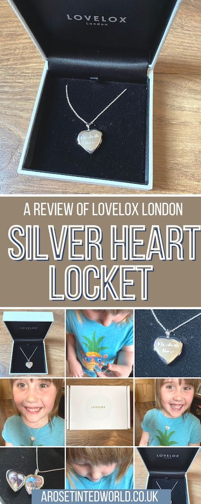 Sterling Silver Heart Locket by LOVELOX London. A review & giveaway - a chance to win a heart silver locket necklace in 925 sterling silver.