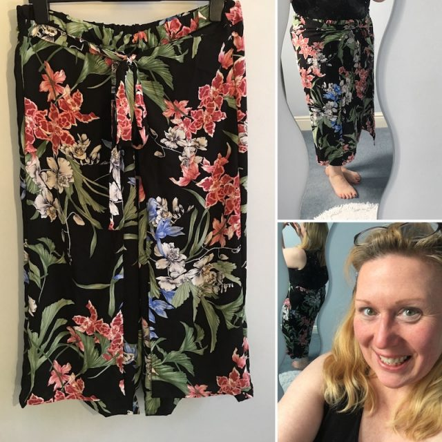 My culottes with overlay pattern from Simplicity 8134