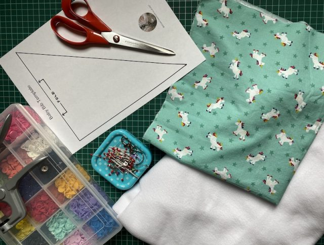 Materials needed when making a bib