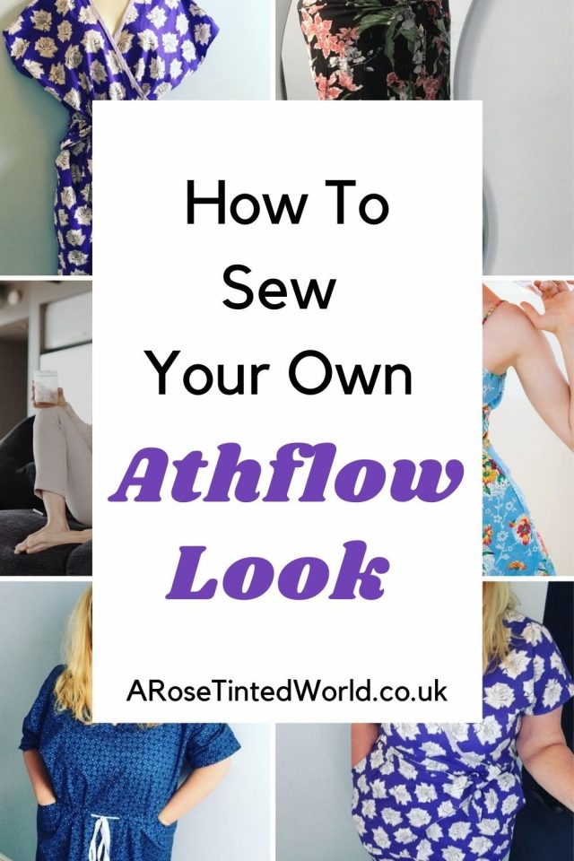 How To Sew Your Own Athflow Look with Athflow sewing patterns - what is the Athflow look? The new trend in flowing pants, oversize house dresses and casual comfortable jumpsuits is the latest in go-to loungewear. See how you can recreate this fashion by home sewing your own wardrobe of comfortable clothes that take you from office to yoga and are perfect for lounging around at home too. My favourite sewing patterns for making the look at home.