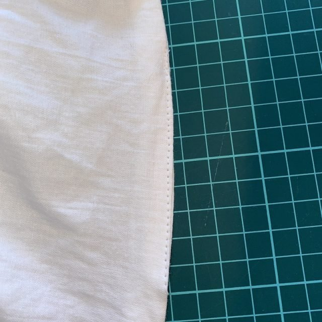 Sew lining base gap closed