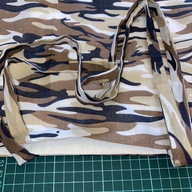 Pressing top of bag