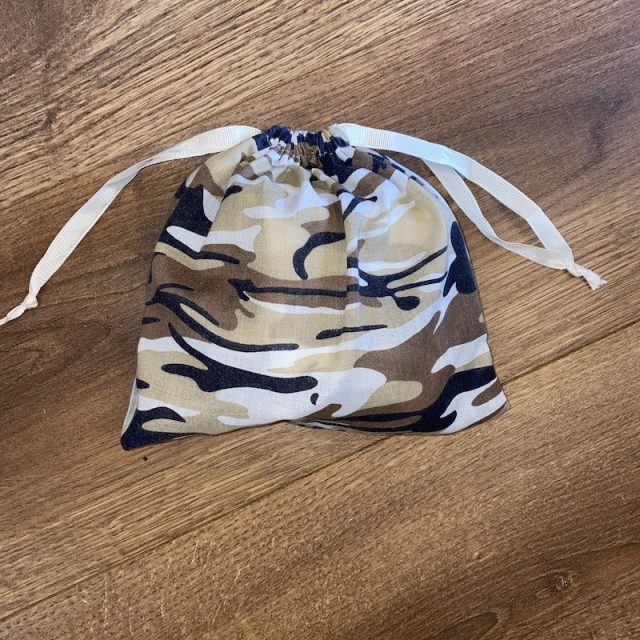 Coordinating Drawstring Pouch for reusable tote grocery bag